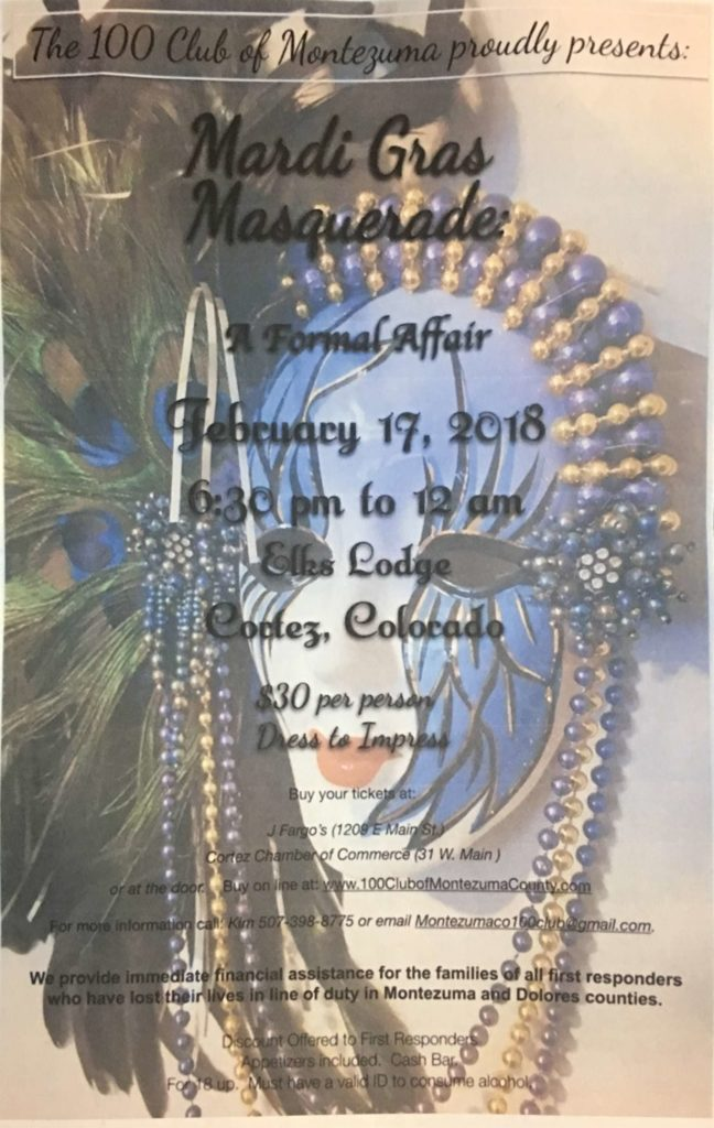 The 100 Club of Montezuma Masquerade