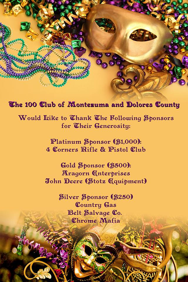 The 100 Club of Montezuma Mardi Gras Masquerade